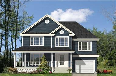 3-Bedroom, 1724 Sq Ft Country House Plan - 158-1009 - Front Exterior