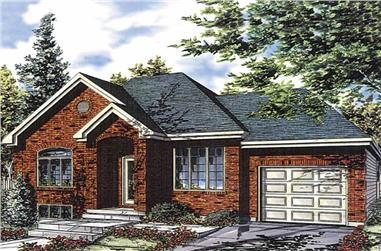 4-Bedroom, 1287 Sq Ft Bungalow House Plan - 158-1010 - Front Exterior