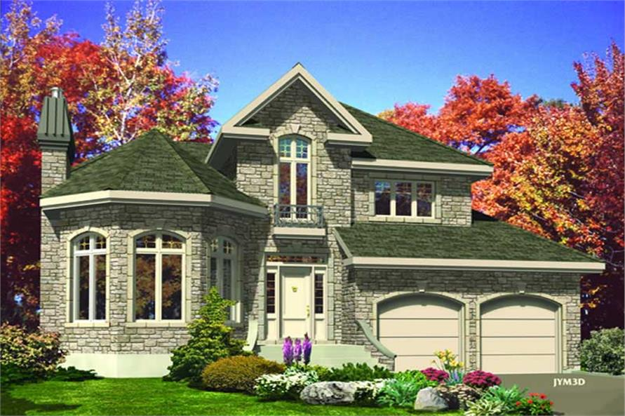 3-Bedroom, 2118 Sq Ft European Home Plan - 158-1011 - Main Exterior