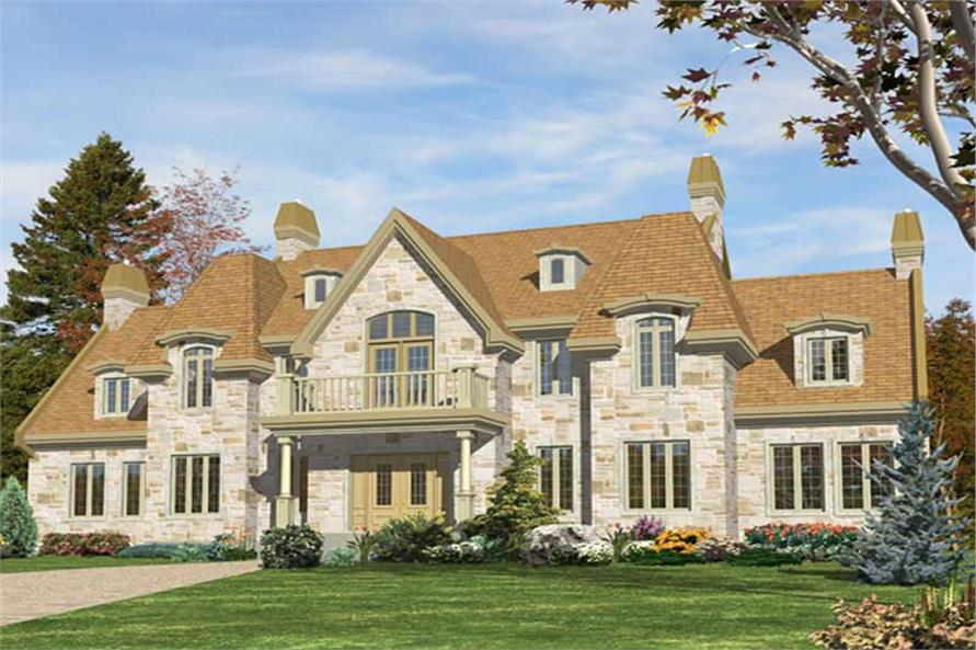 3-Bedroom, 4301 Sq Ft European Home Plan - 158-1012 - Main Exterior