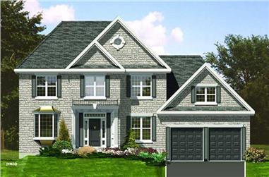 4-Bedroom, 2505 Sq Ft European Home Plan - 158-1014 - Main Exterior