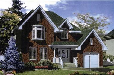 3-Bedroom, 1436 Sq Ft Country House Plan - 158-1015 - Front Exterior