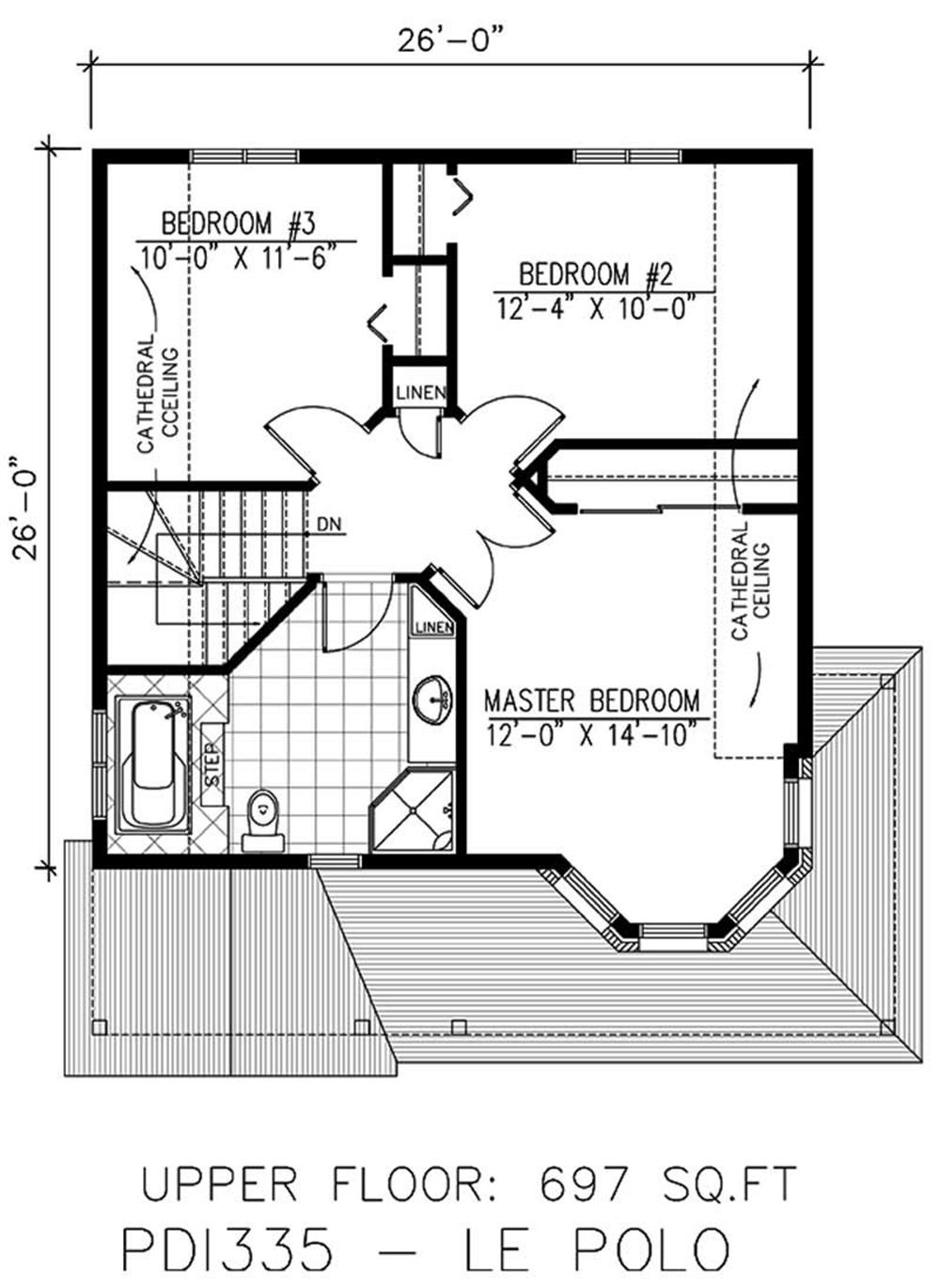 Large images for house plan 158 1018 for 2nd story floor plans