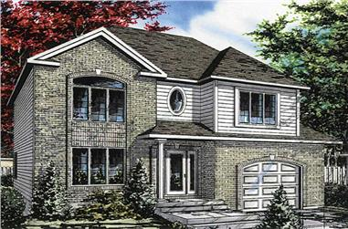 4-Bedroom, 1916 Sq Ft European House Plan - 158-1019 - Front Exterior
