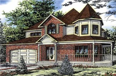 3-Bedroom, 2134 Sq Ft Country House Plan - 158-1020 - Front Exterior