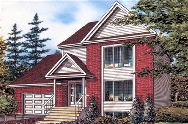 3-Bedroom, 1308 Sq Ft European Home Plan - 158-1024 - Main Exterior