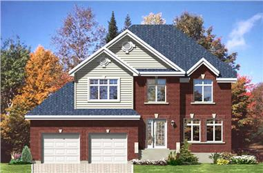 3-Bedroom, 1999 Sq Ft European House Plan - 158-1028 - Front Exterior