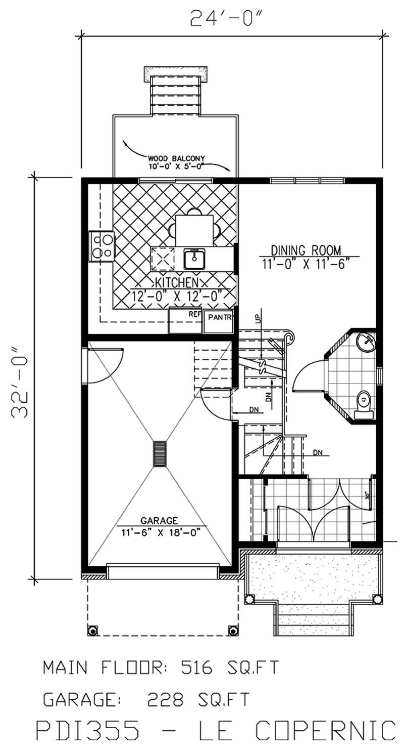 Small european house plans home design pdi355 for Small european house plans