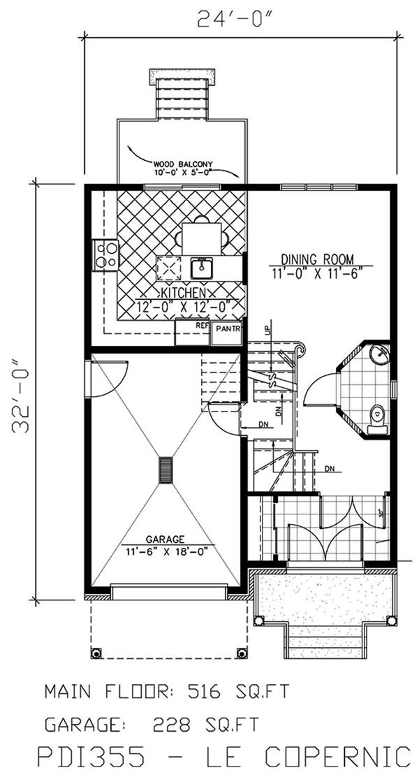 Small, European House Plans - Home Design PDI355