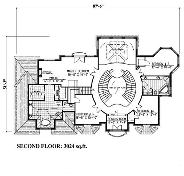 158-1030: Floor Plan Upper Level