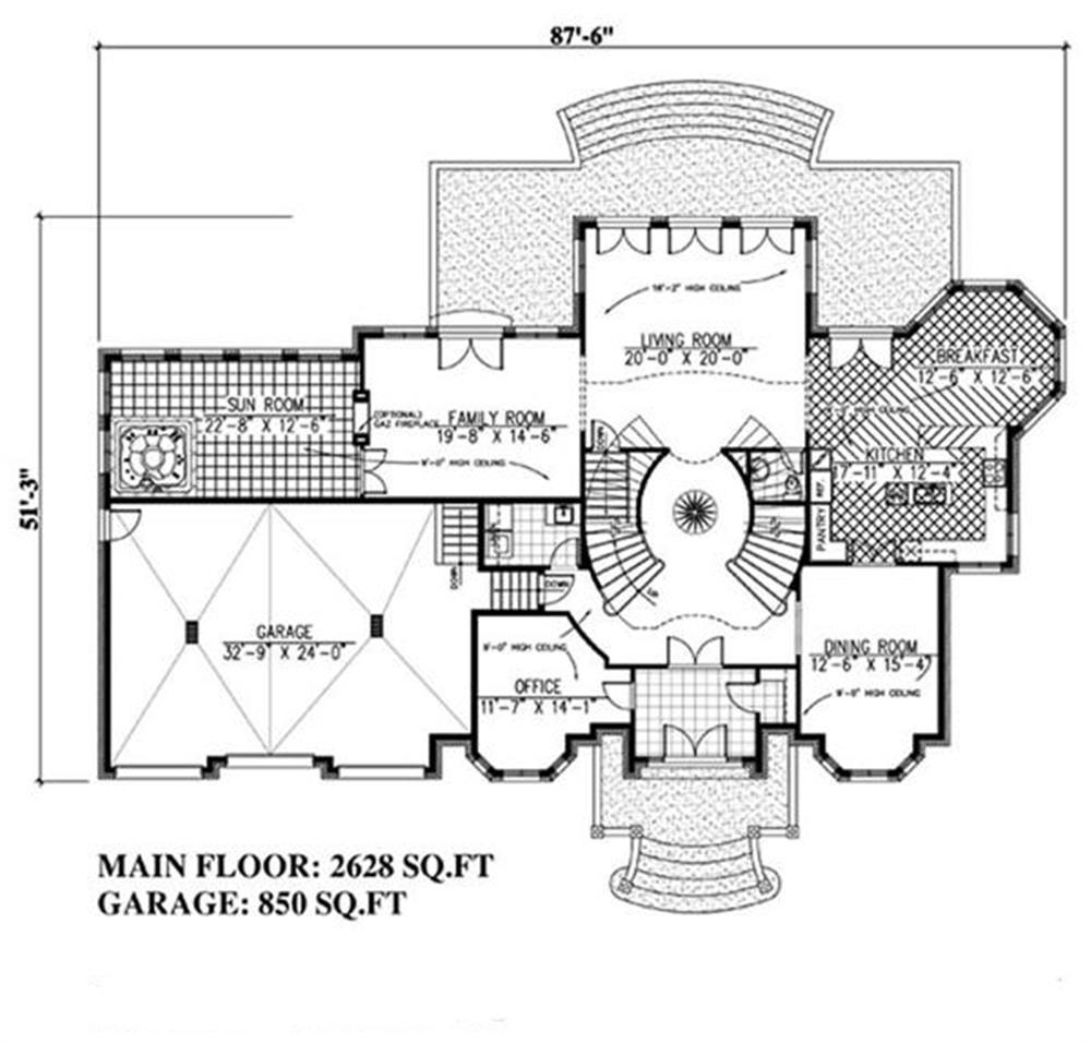 158-1030: Floor Plan Main Level