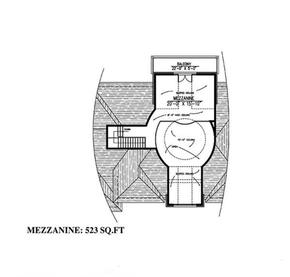 158-1030: Floor Plan Third Story