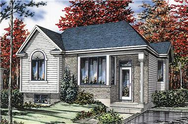 2-Bedroom, 910 Sq Ft Ranch House Plan - 158-1031 - Front Exterior