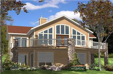3-Bedroom, 2144 Sq Ft Country House Plan - 158-1034 - Front Exterior