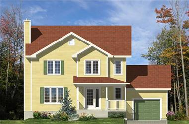 3-Bedroom, 1530 Sq Ft Country House Plan - 158-1035 - Front Exterior