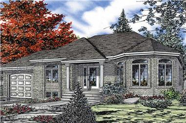 3-Bedroom, 1187 Sq Ft Bungalow House Plan - 158-1036 - Front Exterior