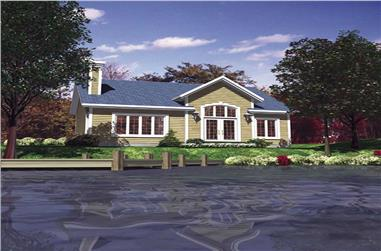 2-Bedroom, 952 Sq Ft Country Home Plan - 158-1039 - Main Exterior