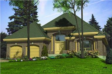 2-Bedroom, 1533 Sq Ft Ranch House Plan - 158-1041 - Front Exterior