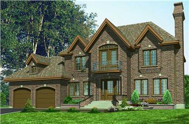 4-Bedroom, 1904 Sq Ft European House Plan - 158-1042 - Front Exterior