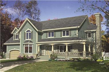 4-Bedroom, 2344 Sq Ft Country House Plan - 158-1045 - Front Exterior