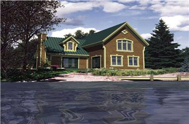 2-Bedroom, 1120 Sq Ft Country House Plan - 158-1046 - Front Exterior