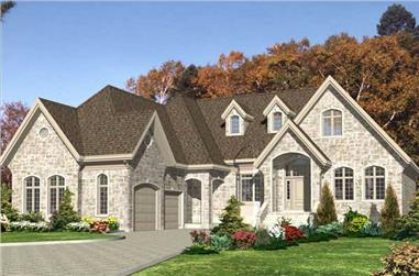 2-Bedroom, 2036 Sq Ft Country House Plan - 158-1047 - Front Exterior