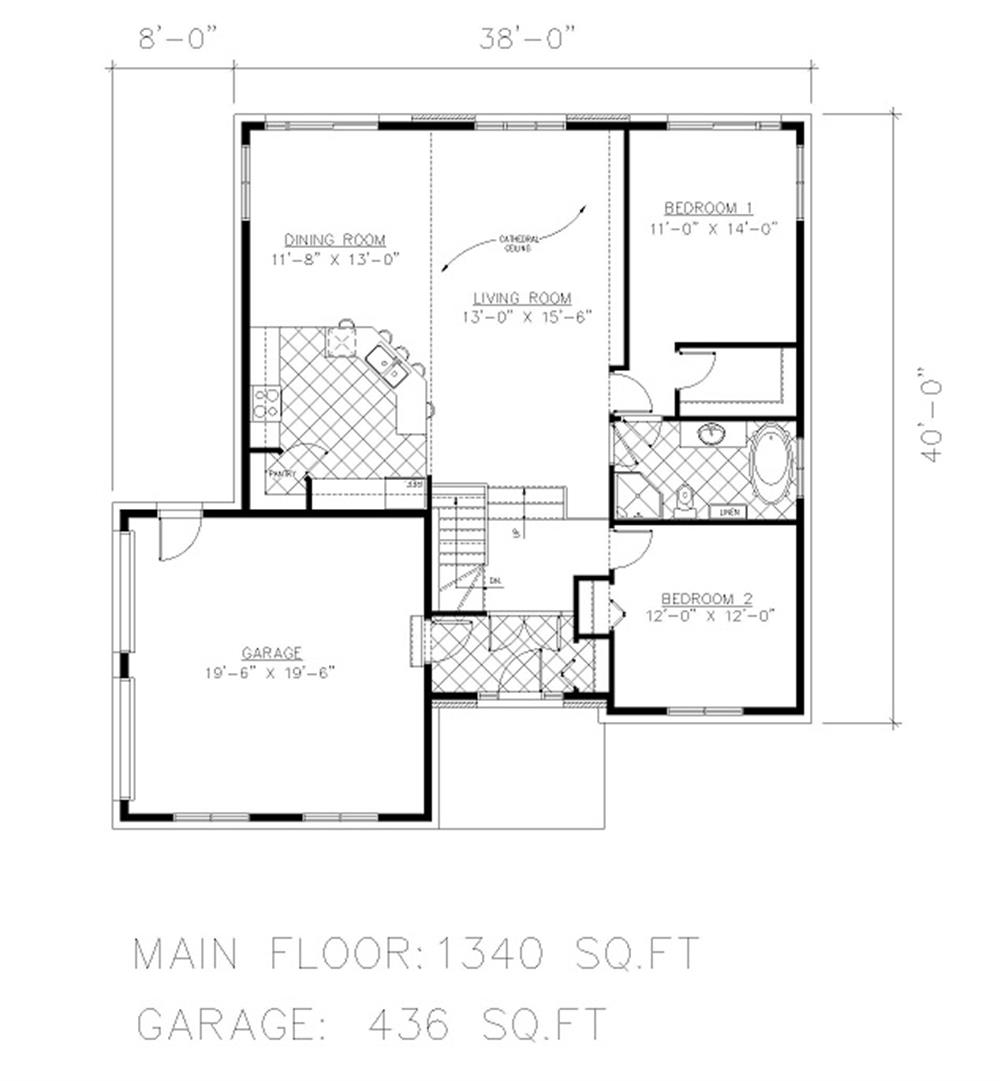 158-1048 house plan main level