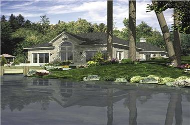 2-Bedroom, 1340 Sq Ft Bungalow Home Plan - 158-1048 - Main Exterior
