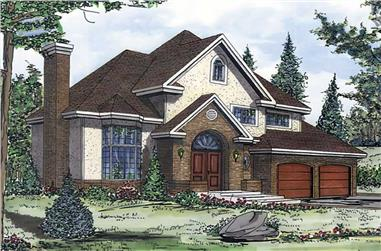 3-Bedroom, 2155 Sq Ft European Home Plan - 158-1049 - Main Exterior