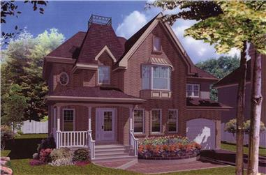 3-Bedroom, 1546 Sq Ft European Home Plan - 158-1050 - Main Exterior