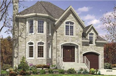 3-Bedroom, 1272 Sq Ft European Home Plan - 158-1053 - Main Exterior