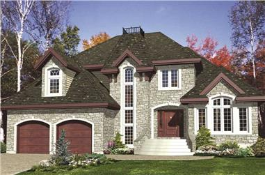 3-Bedroom, 2177 Sq Ft European House Plan - 158-1056 - Front Exterior