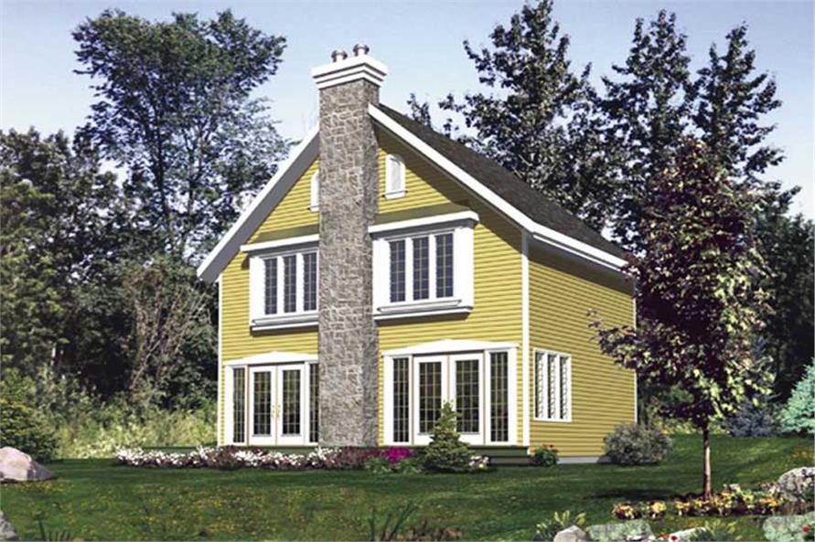 3-Bedroom, 1168 Sq Ft Country House Plan - 158-1057 - Front Exterior