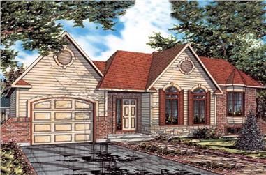 3-Bedroom, 1170 Sq Ft Bungalow House Plan - 158-1059 - Front Exterior