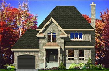 3-Bedroom, 1423 Sq Ft European House Plan - 158-1060 - Front Exterior