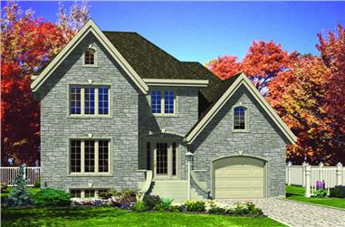 3-Bedroom, 1494 Sq Ft Ranch House Plan - 158-1061 - Front Exterior