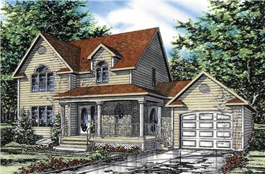 3-Bedroom, 1376 Sq Ft Country House Plan - 158-1062 - Front Exterior
