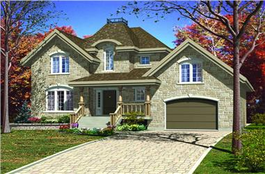 3-Bedroom, 1689 Sq Ft European Home Plan - 158-1063 - Main Exterior