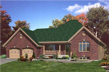 2-Bedroom, 1508 Sq Ft Country Home Plan - 158-1065 - Main Exterior