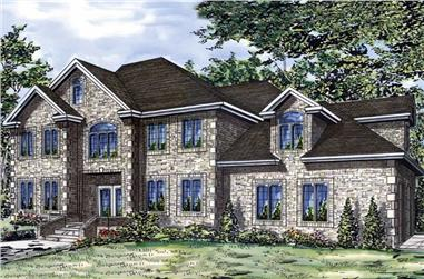 4-Bedroom, 2770 Sq Ft European Home Plan - 158-1068 - Main Exterior