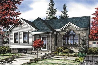 2-Bedroom, 943 Sq Ft Bungalow Home Plan - 158-1070 - Main Exterior
