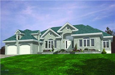 3-Bedroom, 2655 Sq Ft European House Plan - 158-1072 - Front Exterior