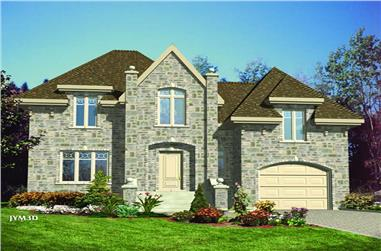 3-Bedroom, 1550 Sq Ft European Home Plan - 158-1073 - Main Exterior
