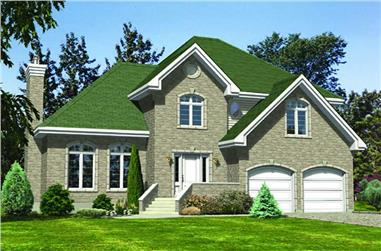 4-Bedroom, 2404 Sq Ft European House Plan - 158-1076 - Front Exterior