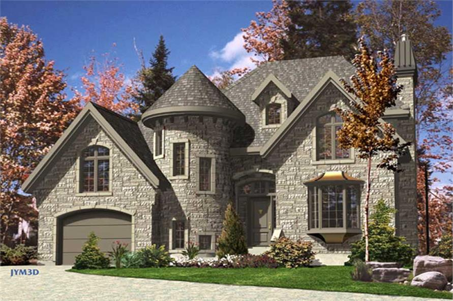color rendering of this house plan - Victorian House Design