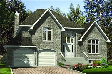 3-Bedroom, 1853 Sq Ft European House Plan - 158-1080 - Front Exterior