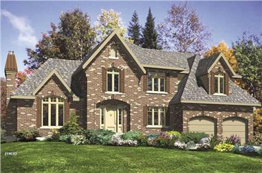 4-Bedroom, 2455 Sq Ft European Home Plan - 158-1081 - Main Exterior