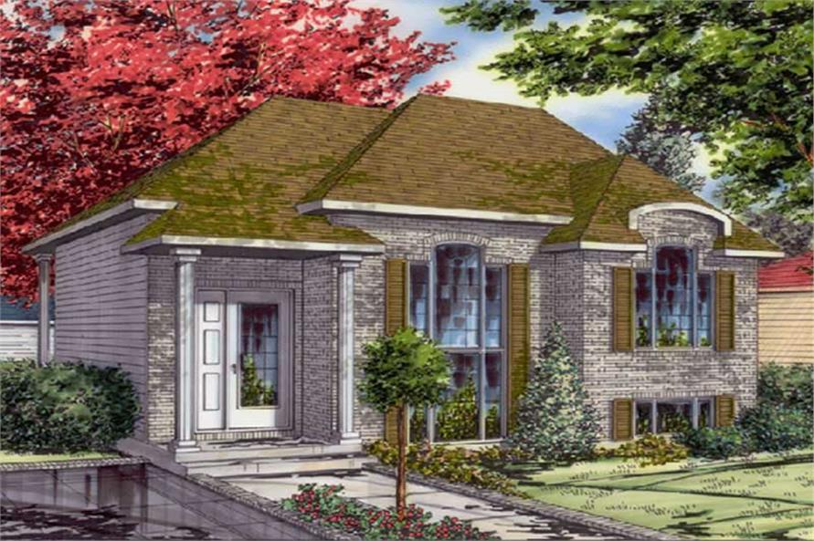 4-Bedroom, 1612 Sq Ft Bungalow House Plan - 158-1082 - Front Exterior