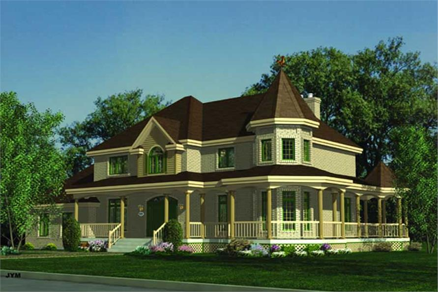 3-Bedroom, 2926 Sq Ft Country House Plan - 158-1084 - Front Exterior