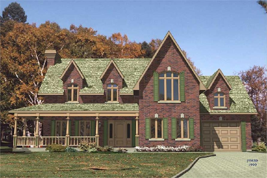 3-Bedroom, 2216 Sq Ft Colonial Home Plan - 158-1089 - Main Exterior